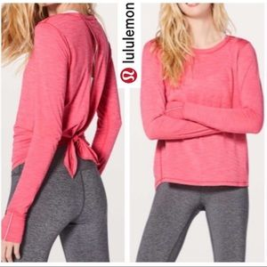 Lululemon Beat The Heat Long Sleeve Open Back Top